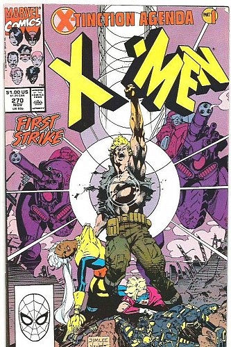 The UNCANNY X-MEN #270 Marvel Comics 1990 High Grade Fine- or better