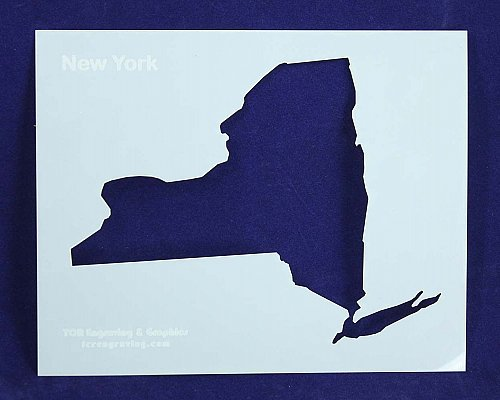 State of New York Stencil -14 mil Mylar Painting/Crafts