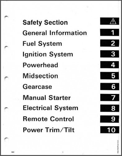 Evinrude / Johnson 60 65 70 75 HP Models Outboard Motors Service Manual on a CD