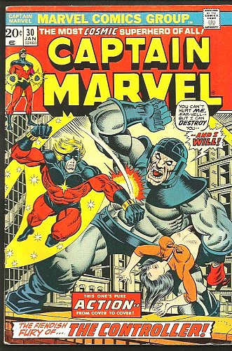 Captain Marvel #30 FINE+ JIM STARLIN THANOS Cameo GUARDIANS OF THE GALAXY 1976