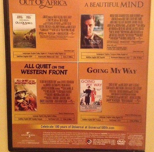 4movie DVD Out of Africa,A Beautiful Mind,Robert REDFORD Meryl STREEP Ed HARRIS