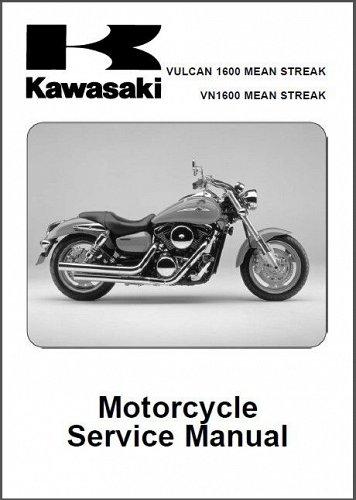 Kawasaki Vulcan 1600 Mean Streak / VN1600 Mean Streak Repair Service Manual CD