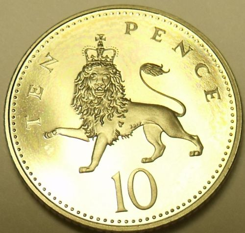 Gem Cameo Proof Great Britain 1996 10 New Pence~Proofs Are The Best Coins~Fr/Shi