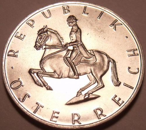 Austria 1973 5 Schilling Proof~87,000 Minted~Lippizaner Stallion~Free Shipping