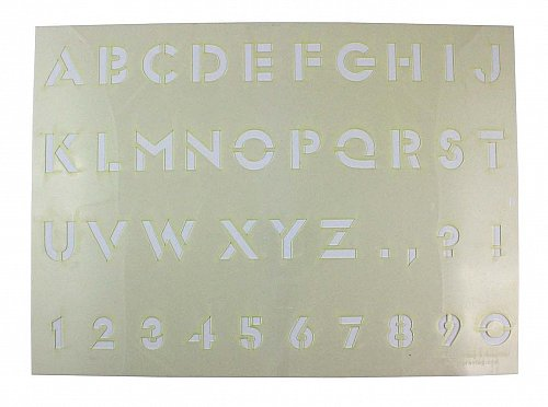 """Letter/Number Stencil Mylar 14 Mil 13""""H X 18""""W - Painting /Crafts/ Templates"""