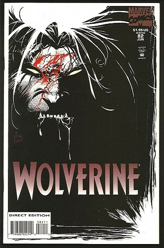 WOLVERINE #82 Marvel Comics DIRECT Edition 1st Long Series VF+/NM- 1994