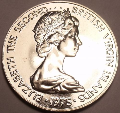 Rare Proof British Virgin Islands 1975 5 Cents~Doves~32,000 Minted~Free Shipping