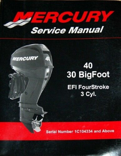 2010-2015 Mercury 40 / 30 Bigfoot EFI 4-Stroke Outboard Service Repair Manual CD