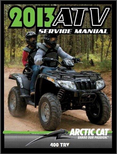 2013 Arctic Cat 400 TRV ATV Service Repair Workshop Manual CD -- TRV400 400TRV