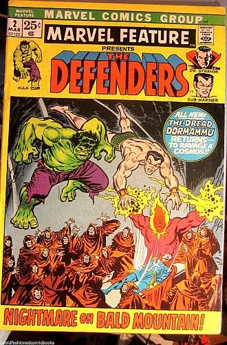 MARVEL FEATURE #2 THE DEFENDERS 2nd one Fine- range 1st series 1972 1st print
