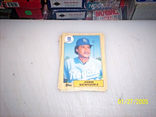 1987 Topps Traded Baseball JUAN BENIQUEZ ROYALS #T4 FREE SHIPPING