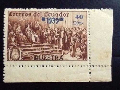 Ecuador 1939 Columbus unis-sued series - 40c