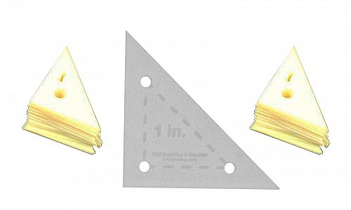 """Mylar 1"""" Right Triangle- 51 Piece Set - Quilting / Sewing Templates -"""