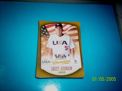 DAVEY JOHNSON #40 2013 Panini USA Champions Gold Boarder Card FREE SHIP