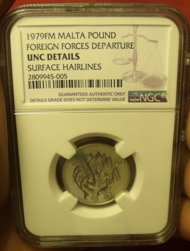 Malta 1979FM Pound~NGC Certified Unc~Free Shipping