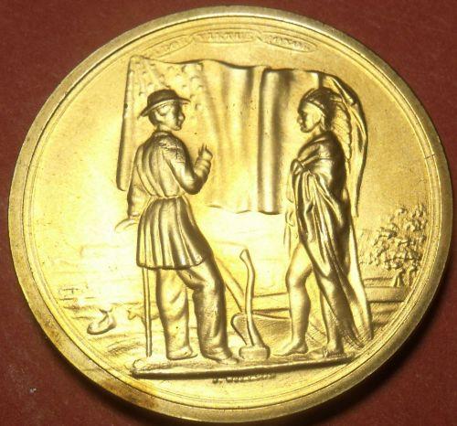 Gem Unc Franklin Pierce Presidential Bronze Inauguration Medallion~Free Shipping