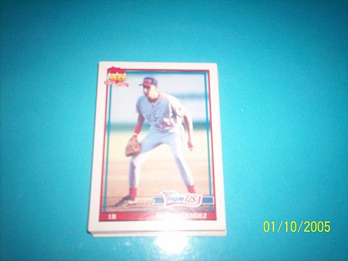 1991 Topps Traded rookie card of dan melendez team usa #80T mint free ship
