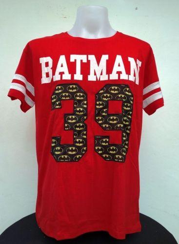 Batman Red Cotton T-Shirt Super Hero Dccomics,Warner Bros Free Shipping