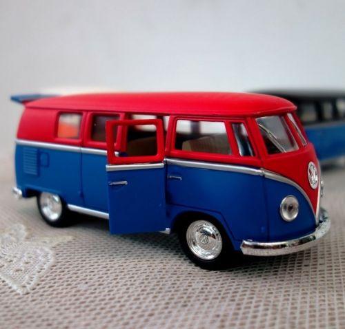 Volkswagen Paint Classic Bus Kinsmart 1/32 1962 Diecast model Car ,free shipping