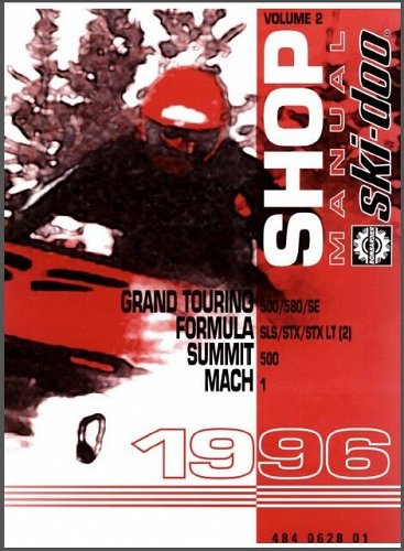1996 Ski-Doo Grand Touring, Formula, Summit, Mach Service Manual on a CD