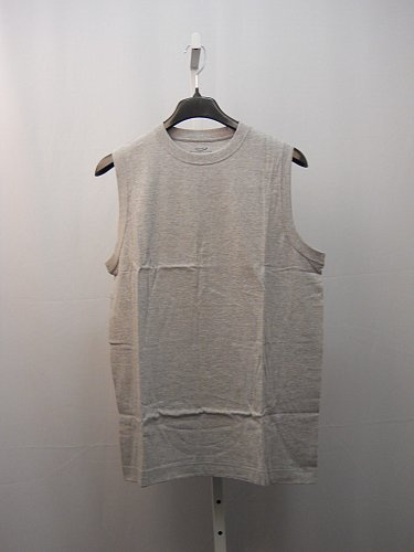 Mens Muscle T Shirt SIZE L ROUNDTREE & YORKE SPORT 90% Cotton Solid Grey
