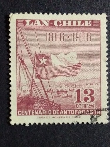 Chile 1966 1v used stamp Centenario de Antofagasta