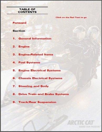 2006 Arctic Cat All 4-Stroke Snowmobile Factory Service Repair Manual CD