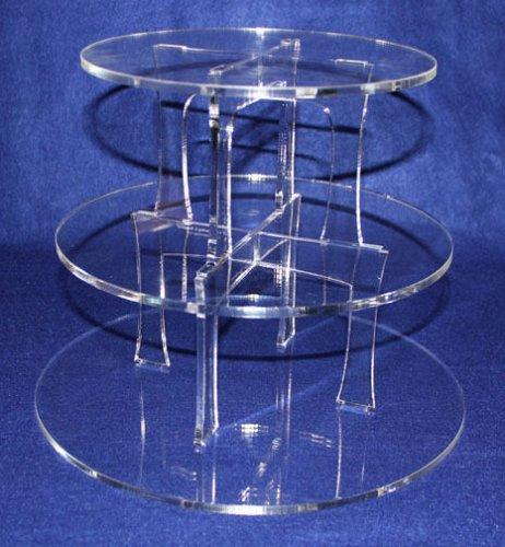 "Cupcake Acrylic Stand - ~1/4"" Clear - Wedding, Graduation, Birthday, Party"