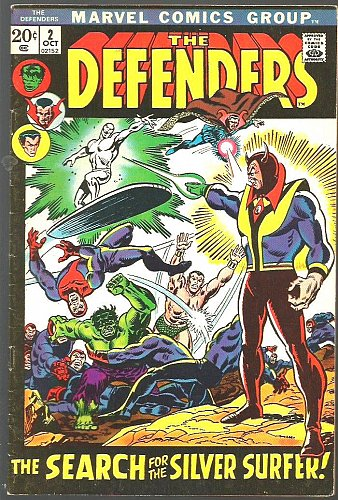 DEFENDERS #2 GUARDIANS Of The GALAXY Bronze Age Hulk Silver Surfer Sub-Mariner