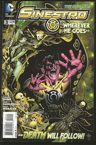 SINESTRO #3 DC Comics 2014 Issued at $2.99 High Grade