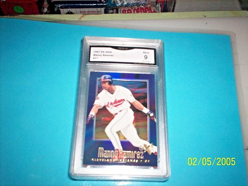 manny ramirez 1997 EX 2000 #17 indians GRADED MINT 10 GRADED BY GMA