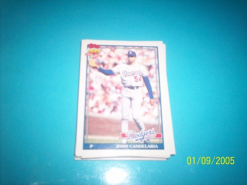 1991 Topps Traded john candelaria dodgers #17T mint free ship
