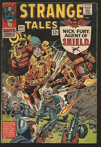Strange Tales #142 Doctor Strange Ditko, Shield Jack Kirby 1966 MARVEL VG+S. Lee