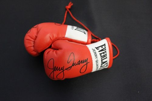 Autographed Mini Boxing Gloves Jerry Quarry