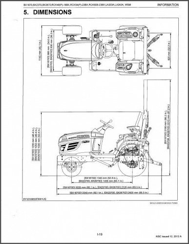 Kubota BX1870 BX2370 BX2670 Tractor Mower Front Loader WSM Service Manual on CD