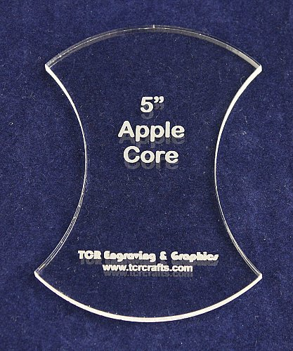 """Apple Core 5"""" - 1/4"""" Thick - Clear Acrylic - Long Arm (1/4"""" foot) or Hand Sew"""