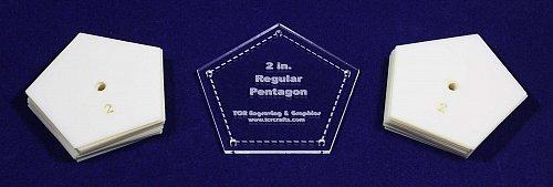 "Mylar 2"" Sides - Regular Pentagon 51 Piece Set - Quilting / Sewing Templates"