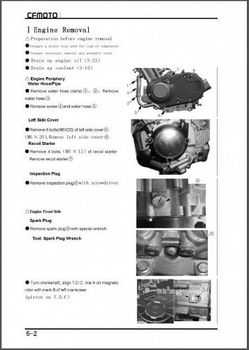 CFMoto X6 Terralander 600 EFI ( CF625-B / CF625-C ) ATV Service Manual on a CD