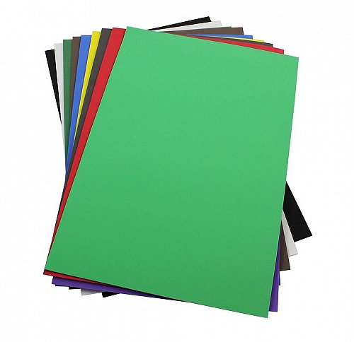 Craft Foam Sheets--12 x 18 Inches -Asst. Colors Set 2 - 10 Sheets-2 MM Thick