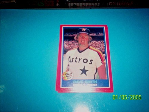 1987 Fleer REVCO Hottest Stars #38 DAVE SMITH FREE SHIPPING