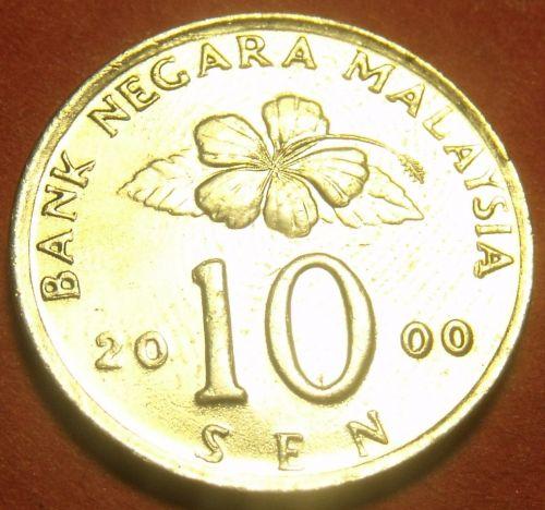 Malaysia 2000 10 Sen Gem Unc~Ceremonial Table~Free Shipping
