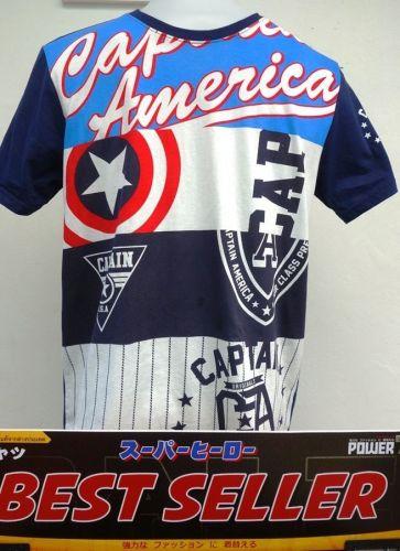 Captain America White Cotton 100% T-Shirt The Avengers Super Hero Marvel