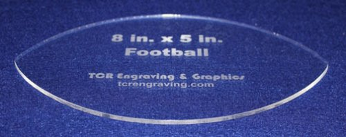 """Football Shaped Quilting Template- Acrylic - Long Arm/Hand Sew - 1/8"""" Acrylic"""