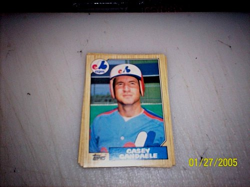 1987 Topps Traded Baseball ROOKIE CASEY CANDAELE EXPOS #T17 FREE SHIPPING