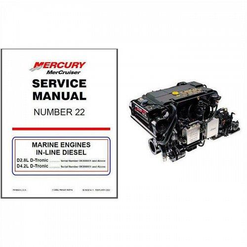 1897-2015 MerCruiser #22 D2.8L D4.2L D-Tronic In-Line Diesel Service Manual CD