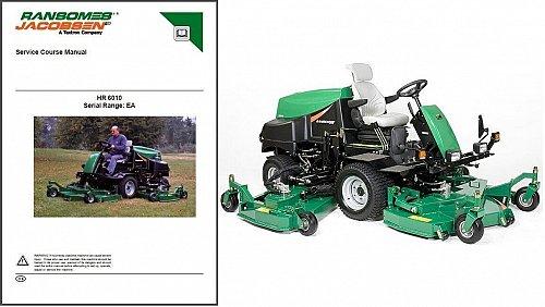 Jacobsen HR 6010 Mower Repair Service Workshop Manual CD - HR6010