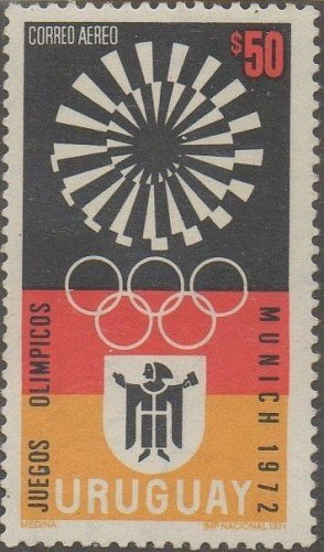 uruguay1v mnh Stamp Mi1231 1972 Olympic Games Munich