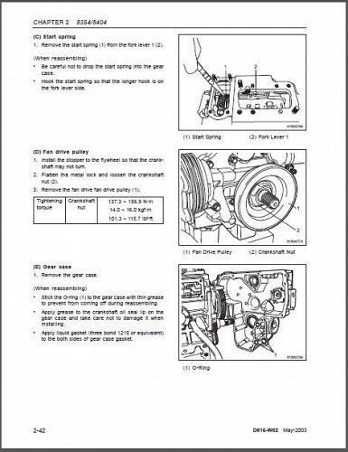 Cub Cadet 8354 8404 Tractor Repair Service Workshop Manual CD