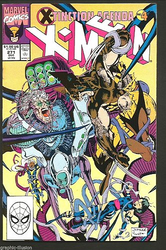 Uncanny X-men #271 Marvel Comics 1990 HIGH GRADE VF- range X-Tinction Agenda 4