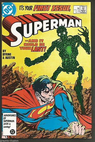 SUPERMAN #1 DC Comics 1st print 1986 VF/NM- range JOHN BYRNE & TERRY AUSTIN